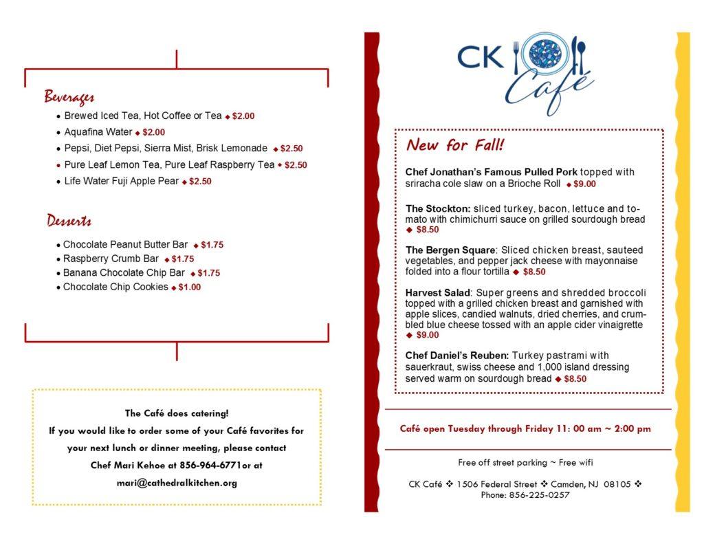 CK Cafe\\\\\\\\\\\' Menu