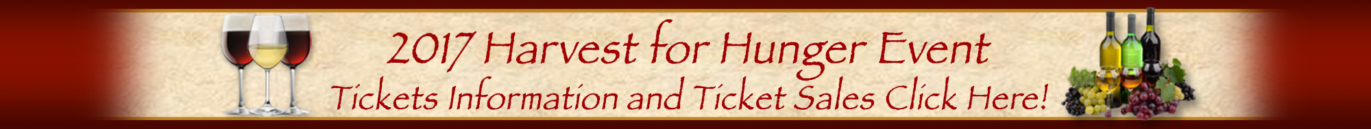 2017 Harvest for Hunger Wine Tasting and Live Auction Event