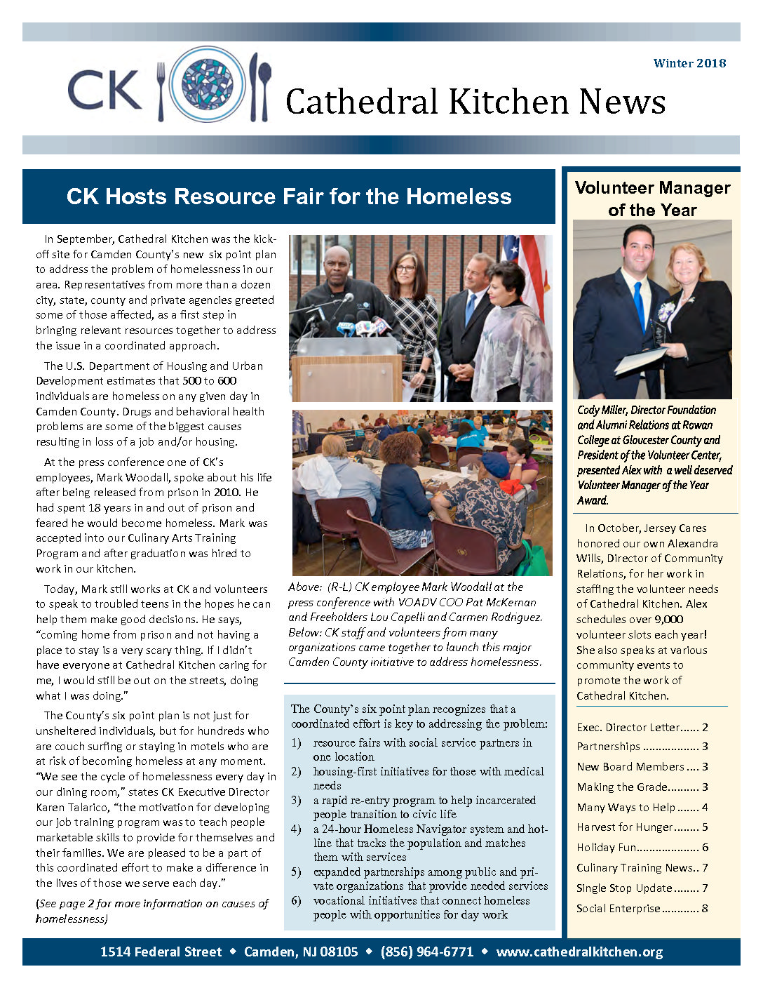 Newsletters – Cathedral Kitchen